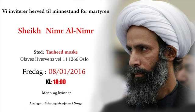 minnestund for martyren Sheikh Nimr Al-Nimr